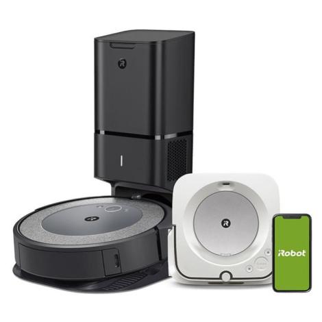 robotický vysavač Set iRobot Roomba i7 a Braava jet m6