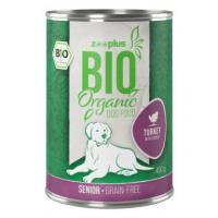 Výhodné balení zooplus Bio Senior 24 x 400 g - míchané balení: 12 x krůtí, 12 x kuřecí