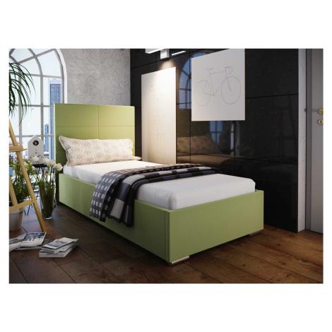 Čalouněná postel SOFIE 4 80X200 cm, zelená látka