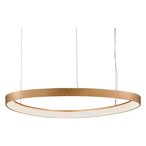 Viokef LED závěsné světlo Loop, zlaté, Ø 60 cm