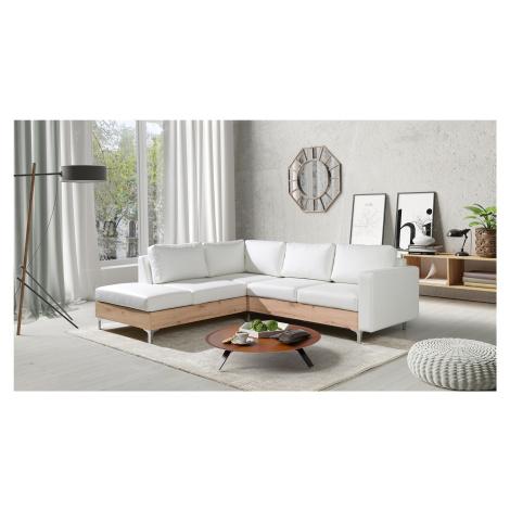 Moderní sedací souprava Orbita, artisan/bílá Roh: Orientace rohu Levý roh