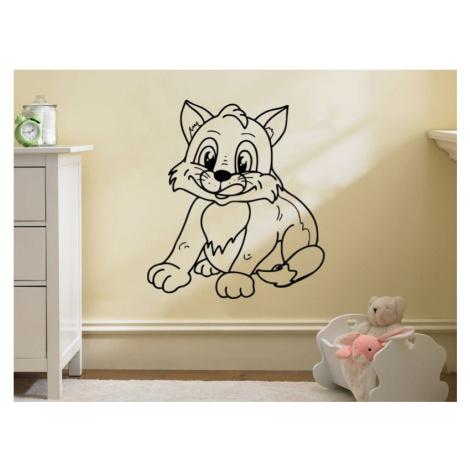 Samolepka na zeď Kočička 0523