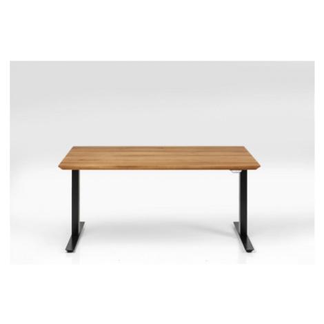 Dubový výškově nastavitelný stůl Symphony - černé, 160x80 Kare Design