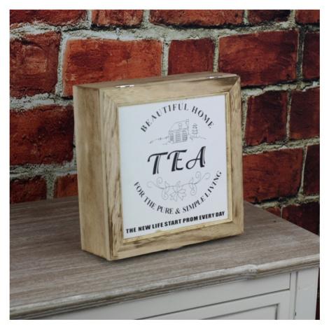 Krabička na čaj Beautiful home 23x23cm NOVAline