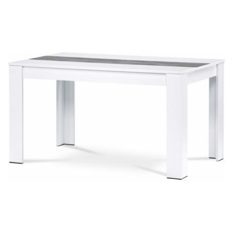 Sconto Jídelní stůl IGOR dub sonoma/bílý nebo černý střed