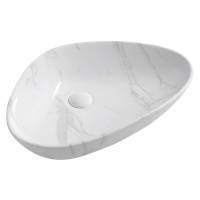 SAPHO DALMA keramické umyvadlo 58,5x14x39 cm, carrara MM217