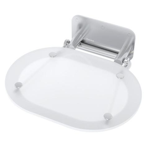 RAVAK Ovo Chrome Sprchové sedátko 410x375 mm, nerez/bílá B8F0000029