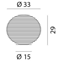 Rotaliana Rotaliana Flow Glass T4 stolní lampa Ø 33 cm koule