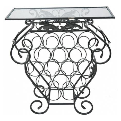DekorStyle Dekorativní stojan na 16 lahví Garth černý
