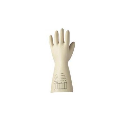 Latexové elektrikářské rukavice Electrosoft 2091907-10, velikost 10, bílá