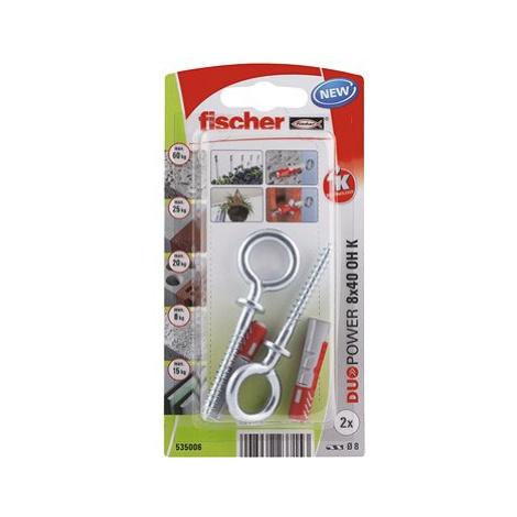 fischer DUOPOWER 8 x 40 univerzální hmoždinka + vrut s okem