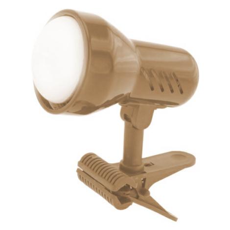 Lampička s klipem Temar E27 zlatý mat