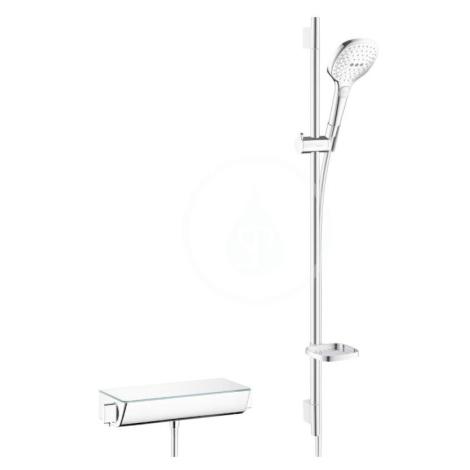 HANSGROHE Raindance Select E Sprchový set 120 s termostatem Ecostat Select, 3 proudy, bílá/chrom