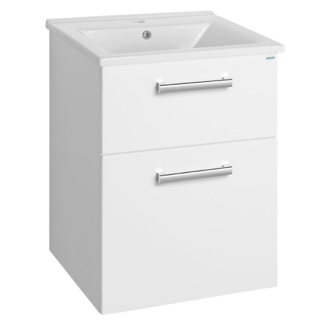 AQUALINE VEGA umyvadlová skříňka 51,5x72,6x43,6 cm, 2xzásuvka, bílá VG053