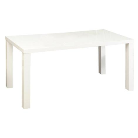 Jídelní stůl, bílá vysoký lesk HG, ASPER NEW TYP 2 Tempo Kondela