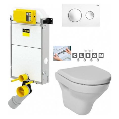 VIEGA Presvista modul PURE pro WC včetně tlačítka Style 20 bílé + WC JIKA TIGO + SEDÁTKO DURAPLA