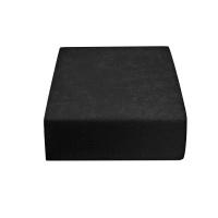 Froté prostěradlo černé 200x220 cm