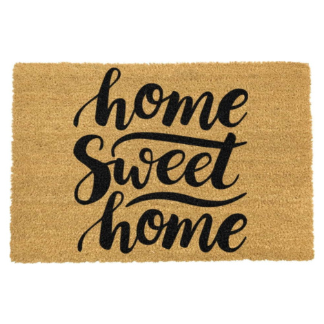 Rohožka z přírodního kokosového vlákna Artsy Doormats Home Sweet Home, 40 x 60 cm