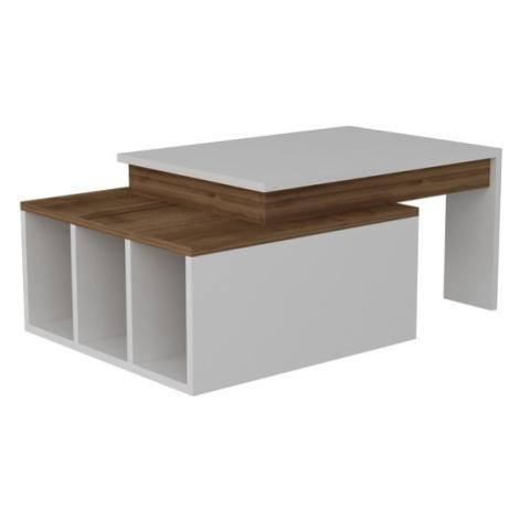 Sconto Konferenční stolek KOLARADO bílá/ořech
