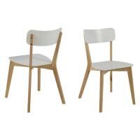 Dkton Designová jídelna židle Niecy bílá bříza