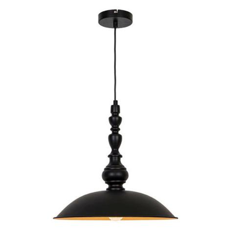 Viokef Závěsné světlo Colin, černé, Ø 40 cm