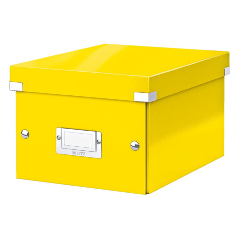 Žlutá úložná krabice Leitz Universal, délka 28 cm