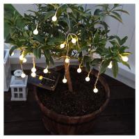 Best Season Teplý bílý LED solární světelný řetěz Globini