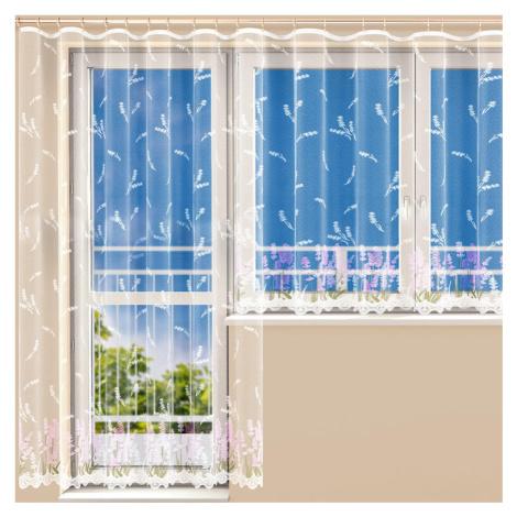 Hotová žakárová záclona MARIANA FIALOVÁ balkonový set Polontex