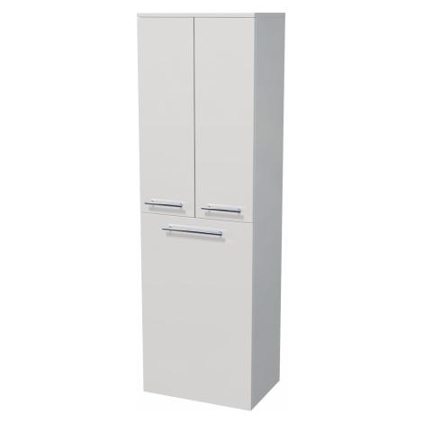 Koupelnová skříňka vysoká Naturel Ratio 50x162x35 cm bílá lesk SV502DK9016G