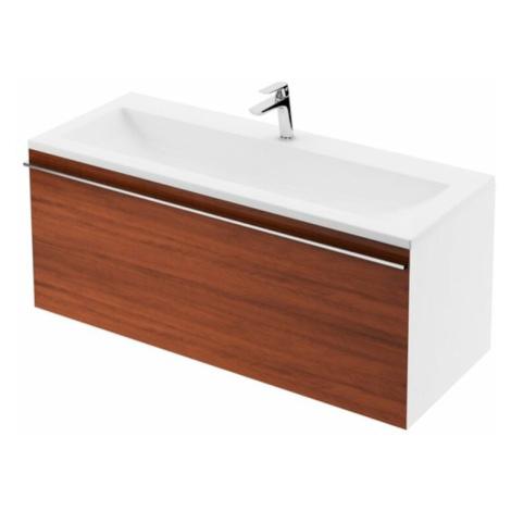 Koupelnová skříňka pod umyvadlo Ravak Clear 80x38 cm bílá/třešeň X000000758