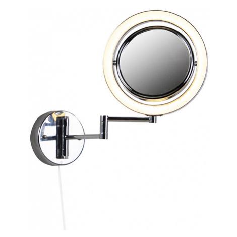 Designové koupelnové zrcadlo chromované včetně LED nastavitelné IP44 - Vicino QAZQA