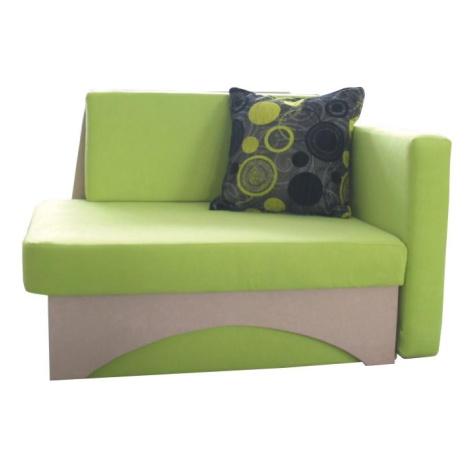 Rozkládací křeslo v moderním designu zelená KUBOŠ pravá Tempo Kondela