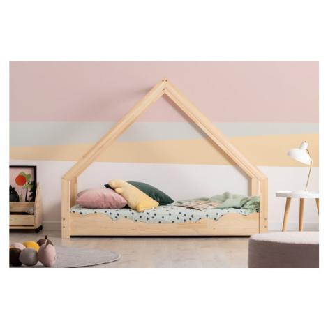 Domečková dětská postel z borovicového dřeva Adeko Loca Dork, 90 x 150 cm