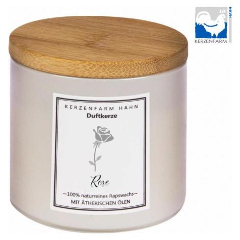 Kerzenfarm Přírodní svíčka Rose, slonovinové sklo 1 ks, 6,5 cm