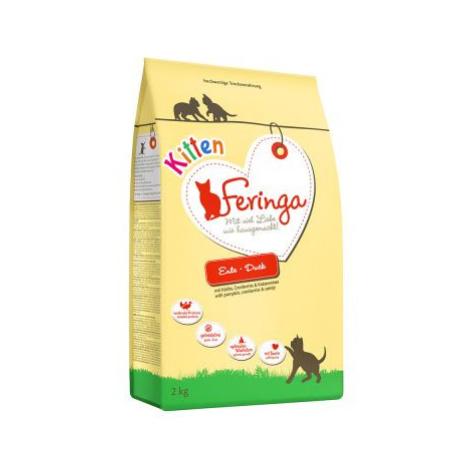 Feringa Kitten Starter Pack s pamlsky - 400 g kachní + 6 x 200 g mokré krmivo kuřecí a telecí +