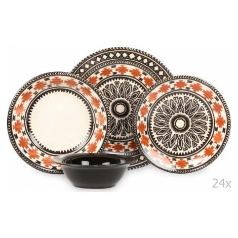 24dílná sada porcelánového nádobí Kutahya Pafio Kütahya Porselen