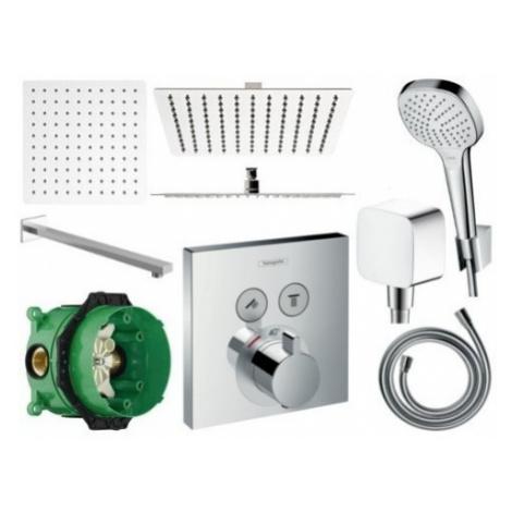 Sprchový set podomítkový HANSGROHE s termostatem 30 CM (mix výrobců)