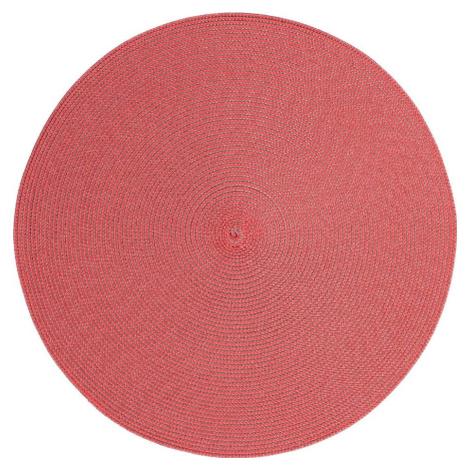 Červené kulaté prostírání Zic Zac Round Chambray, ø 38 cm ZicZac