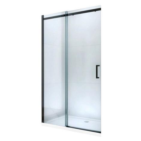 MEXEN Omega posuvné sprchové dveře 110 cm, transparent, černá se sadou pro niku 825-110-000-70-0
