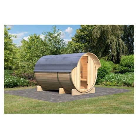 Venkovní finská sudová sauna 216 x 330 cm Dekorhome Lanitplast