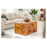 LuxD Designový konferenční stolek Junk 90 cm teak