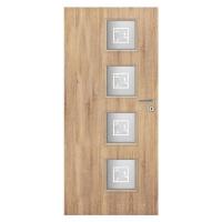 Interiérové dveře Kwadro2 4*4 80L dub sonoma