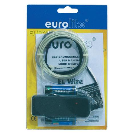Elektroluminiscenční kabel,/o2 mm, 2 m, světle modrá Eurolite