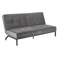 Dkton Designová rozkládací sedačka Amadeo 198 cm tmavě šedá