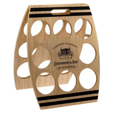 Dřevěný stojan na 8 lahví vína Dakls, 30 x 38 cm