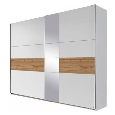 Sconto Šatní skříň CADENCE beton/antracitová, šířka 261 cm