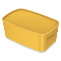 Žlutý přenosný box s víkem Leitz Cosy Mailorder, objem 5 l