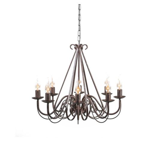 Starožitný lustr hnědý 8-světlý - Giuseppe 8