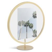 Volně stojící rám ve zlaté barvě na fotografii o rozměru 12 x 18 cm Umbra Infinity