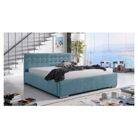 Eka Čalouněná postel Anastasia 90x200 cm Barva látky Trinity: (2322) Světlá modrá